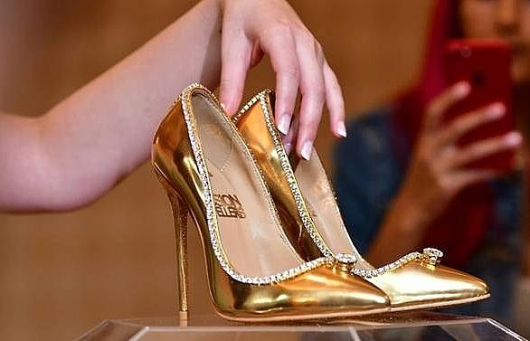 diamond trimmed stilettos go on sale for us 17 million in dubai