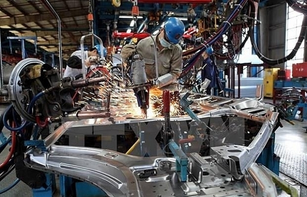 eight month industrial production up 95 percent