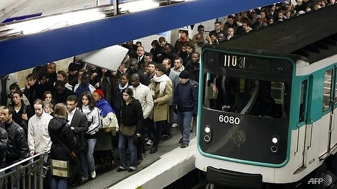 paris braces for massive metro strike over pension reform