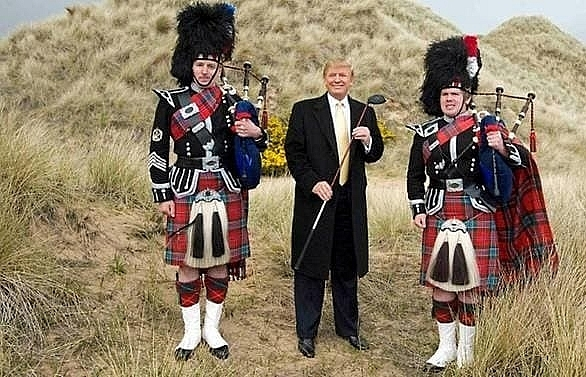 trump gets approval for second scottish course