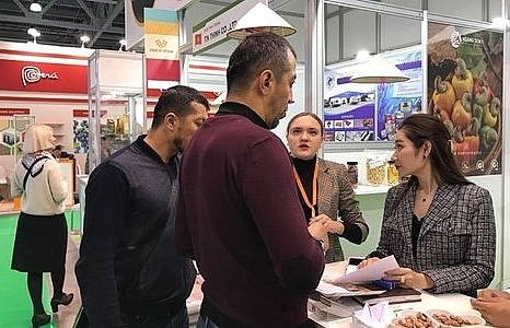 vietnamese firms join intt food fair in russia