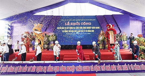 work starts on industrial cluster automobile factory in ha nam