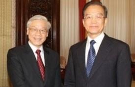 vietnamese chinese leaders cement ties