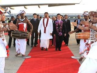state president starts official visit to sri lanka