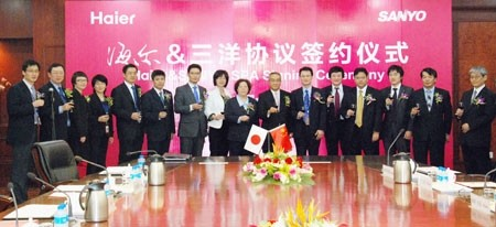 final agreement signed for haiers acquisition over sanyo