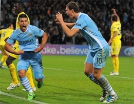 manchester clubs post champions league wins