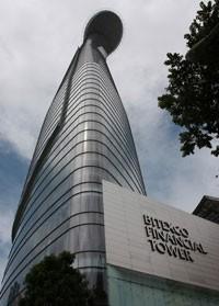 skyscraper vertical run hits bitexco financial tower