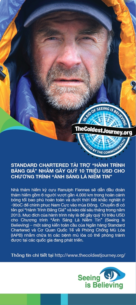 standard chartered sponsors sir ranulph fiennes the coldest journey in aid of seeing is believing