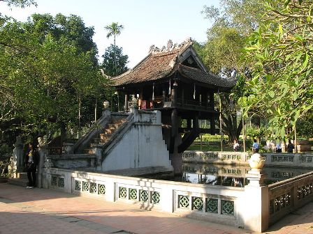 one pillar pagoda recognised as unique example of asian architecture