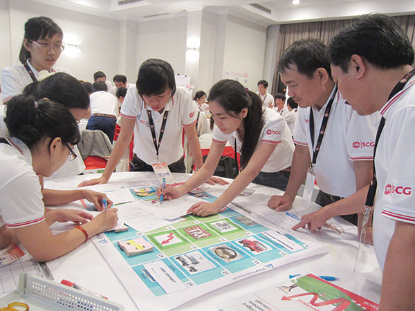 scg steadily develops human resources