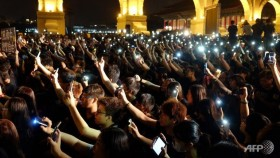 Thousands rally in solidarity with Hong Kong protesters