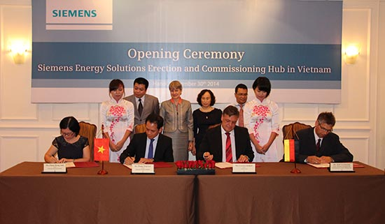 siemens ag establishes the first project execution hub for power plants in vietnam