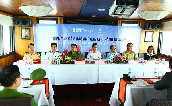 Syrena Cruises practice maritime safety on Halong Bay