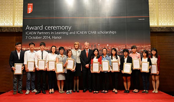 icaew awards scholarship to 15 promising students in vietnam