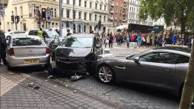 Police release driver after crash near London museums