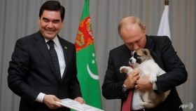 Dog lover Putin gets top breed pup as gift from Turkmenistan leader