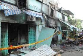 Fire kills two, injures four in HCM City