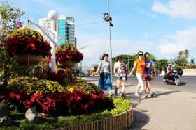 NhaTrang spring flower festival for tourists during Tet