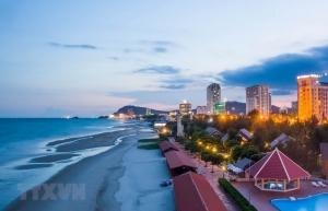 alluring scene of back beach in vung tau beach city