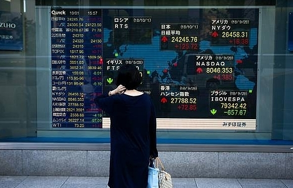 asian markets cautious after us volatility