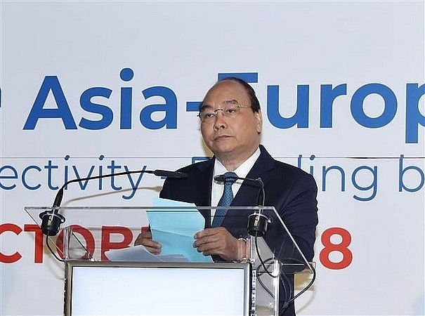 pm calls for closer asia europe connectivity cooperation