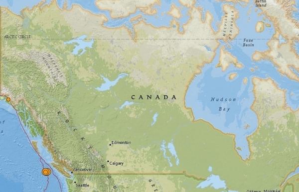 four earthquakes strike off canadas west coast