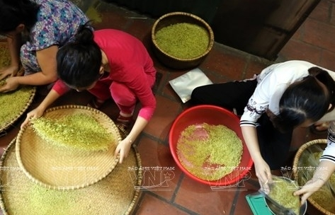 young sticky rice flakes delicacy of hanois autumn