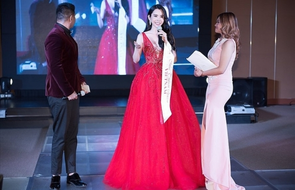 vietnams huynh vy crowned as miss tourism queen worldwide