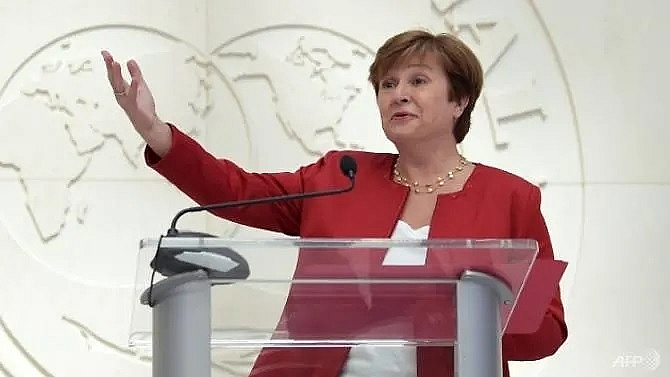 new imf chief georgieva says world suffering synchronised slowdown