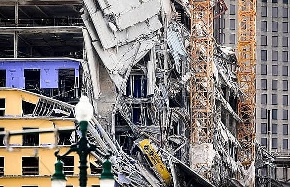 one dead 18 injured after hard rock hotel under construction collapses in new orleans