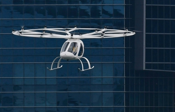 hover taxi whizzes over singapore firm eyes asian push