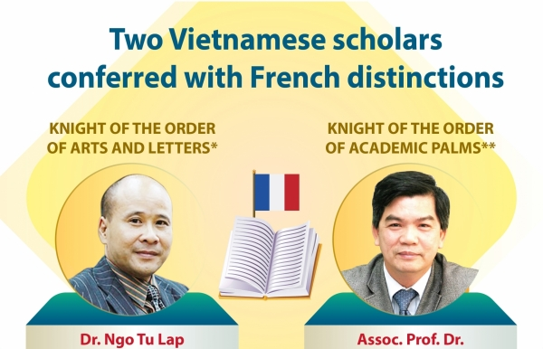 two vietnamese scholars conferred with french distinctions infographics