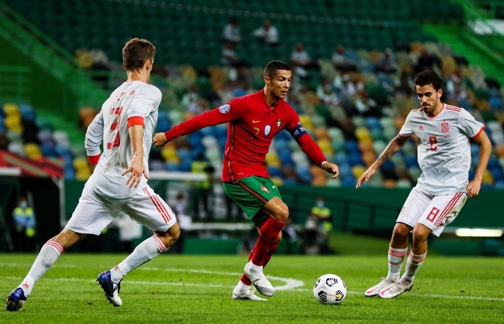 ronaldo denied as portugal held by spain