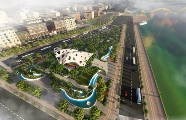 construction of apec park expansion in da nang underway