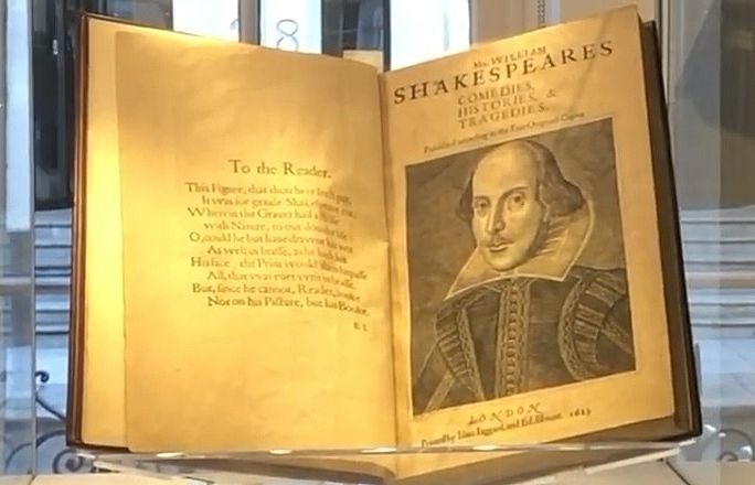 shakespeare first folio sold for record 10 million