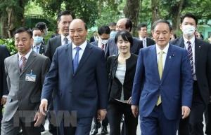 japanese news agency spotlights pm suga yoshihides vietnam visit
