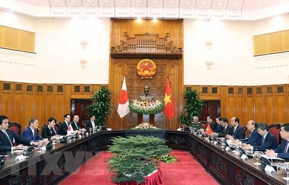 vietnamese japanese pm hold talks