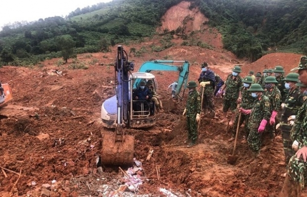 all 22 bodies in quang tris landslide recovered