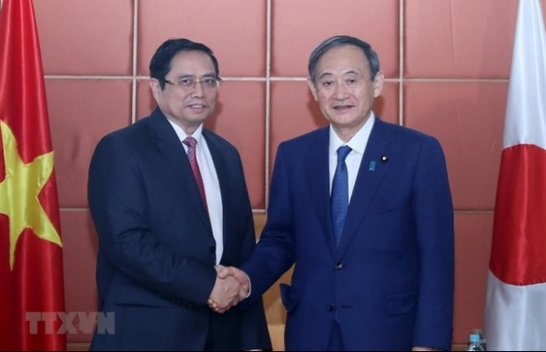 party official meets japanese pm