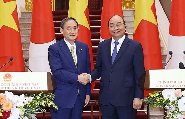 vietnamese japanese pm hold talks