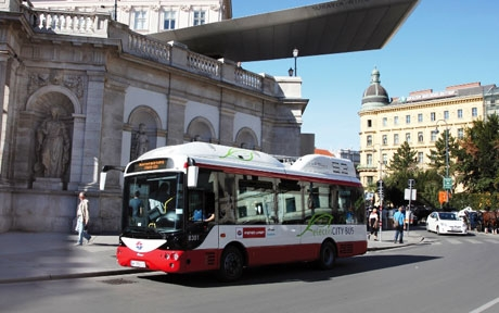 Electric buses roll across Vienna's streets