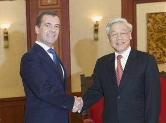 leaders welcome russian prime minister