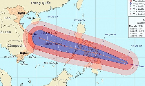 Super Typhoon About To Enter East Sea Heading For Vietnam - Longitude and latitude of vietnam