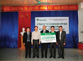 manulife supports rural development in cao bang