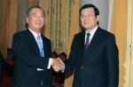 President Sang receives Japanese business delegation