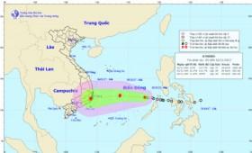 Storm Damrey heads towards south central provinces