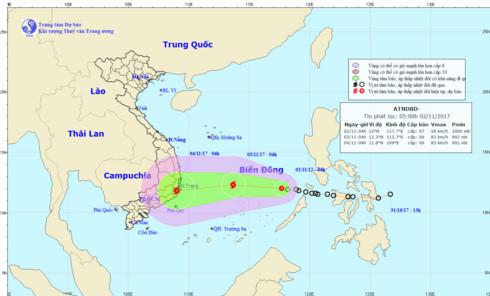 storm damrey heads towards south central provinces hinh 0
