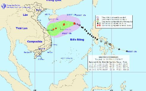 tropical storm heads to hoang sa archipelago  hinh 0