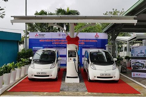 vns first station for electric vehicles opens in da nang
