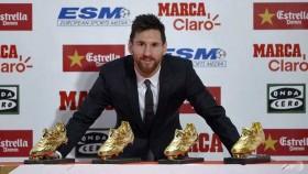 Messi wins fourth European Golden Shoe award